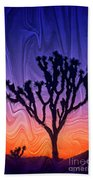 Joshua Tree With Special Effects Bath Towel