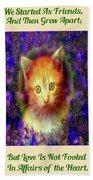 Kitten Portrait Bath Towel