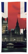 London Cityscape With Big Ben Bath Towel