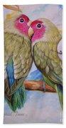 Flygende Lammet   Productions             3 Love Birds Perched Bath Towel