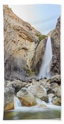Lower Yosemite Fall In The Famous Yosemite Bath Towel