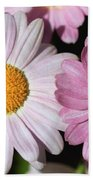 Marguerite Daisy Named Petite Pink Bath Towel
