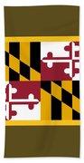 Maryland Flag Bath Towel