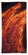 Molten Pahoehoe Lava Bath Towel