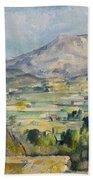 Montagne Saint-victoire Bath Towel