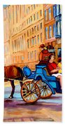 Montreal Paintings Bath Towel