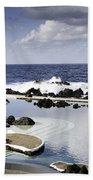 Natural Pools In Porto Moniz, Madeira Bath Towel