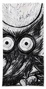 Owl Midnight Bath Towel