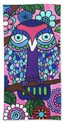 3 Owls Bath Towel