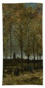 Poplars Near Nuenen Bath Towel