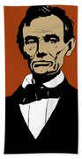 President Lincoln Bath Towel by War Is Hell Store