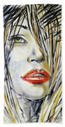 Red Lipstick 081208 Bath Towel