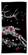 Reindeer Design By Snowflakes Bath Towel