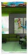 Rooftop Saltwater Fish Tank Art Bath Towel