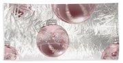 Rose Gold Christmas Baubels Hand Towel
