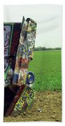 Route 66 - Cadillac Ranch Bath Towel