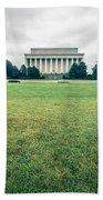 Scenes Around Lincoln Memorial Washington Dc Bath Towel
