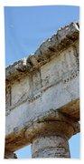 Segesta Greek Temple In Sicily, Italy Bath Towel