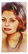 Sophia Loren, Vintage Hollywood Actress Bath Towel
