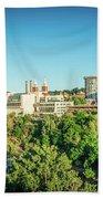 Spokane Washington City Skyline And Streets Bath Towel