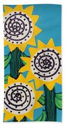 3 Sunflowers Bath Towel