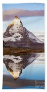 The Matterhorn Mountain In Switzerland Hand Towel