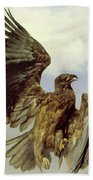 The Wounded Eagle Bath Towel
