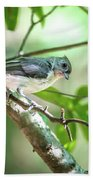 Tufted Titmouse In The Wilds Of South Carolina Bath Towel