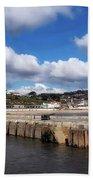 View From The Cobb - Lyme Regis Bath Towel