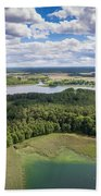 View Of Small Islands On The Lake In Masuria And Podlasie  Bath Towel