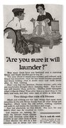 Sure It Will Launder Vintage Soap Ad  Bath Towel