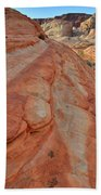 Wave Of Color In Valley Of Fire Bath Towel