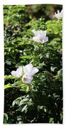 White Flowers Bath Towel
