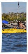 Woman Kayaking Bath Towel