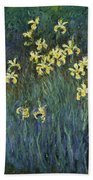 Yellow Irises Bath Towel
