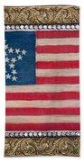 33 Star American Flag. Painting Of Antique Design Bath Towel