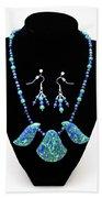 3582 Lapis Lazuli Malachite Necklace And Earring Set Bath Towel