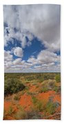 360 Of Clouds Over Desert Bath Towel