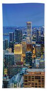 360chicago Rivers Begin To Glow - Skyline Panorama Bath Towel