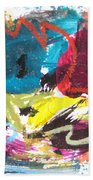 Abstract Expressionsim Art Bath Towel