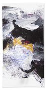 Abstract Expressionsim Art Bath Towel