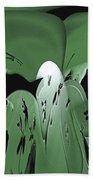 3d Green Abstract Bath Towel