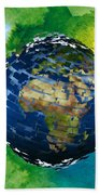 3d Render Of Planet Earth 14 Hand Towel