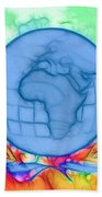 3d Render Of Planet Earth 17 Bath Towel