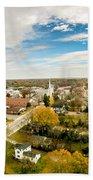 Aerial View Over White Rose City York Soth Carolina Bath Towel