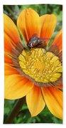 Australia - Fly Feeding On Pollen Bath Towel