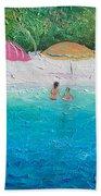 Beach Umbrellas Hand Towel