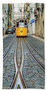 Bica Funicular, Lisbon, Portugal Bath Towel