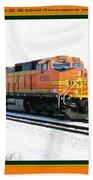 Burlington Northern Santa Fe Bnsf - Railimages@aol.com Bath Towel