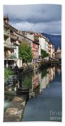 Canals Of Annecy Bath Towel